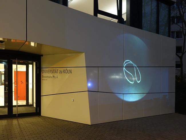 Installation view, Universität für Theoretische Physik, Köln