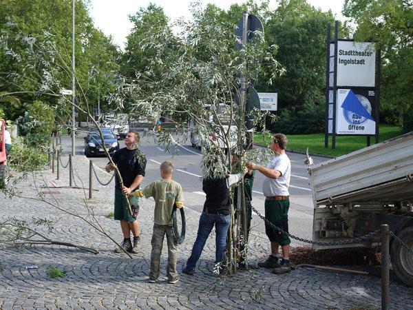 Aufbau: Intervention STADT – Ingolstadt / Stadttheater
